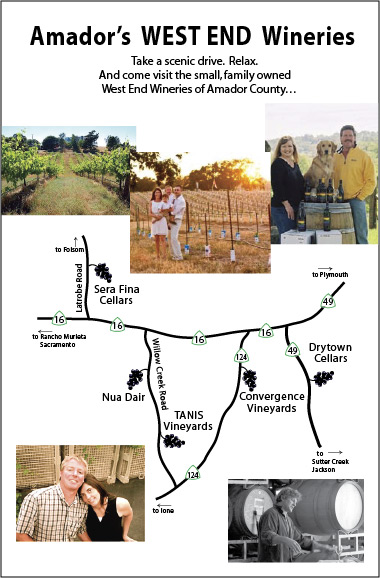 Amador Wineries Map